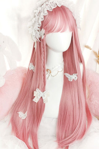 Cosplay Long Straight Pink Wig