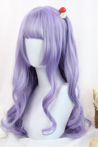 Purple Long Curly Cosplay Wig