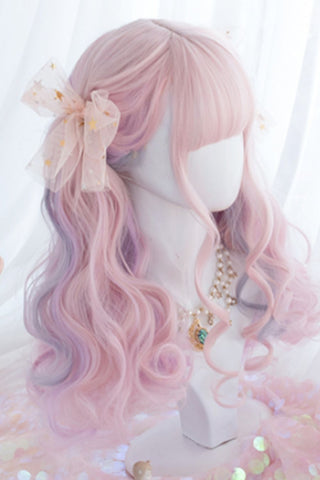 Gradient Pink Curly Cosplay Wig
