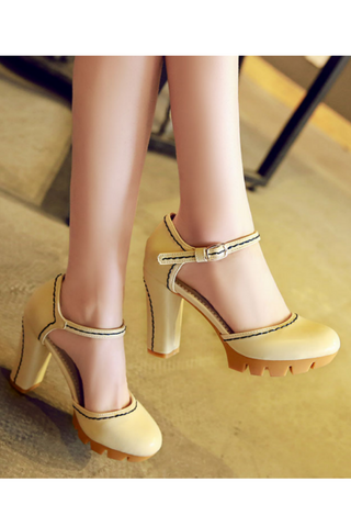 Cream D'orsay Pump Shoes