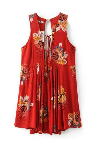 Festival Floral Sleeveless Dress