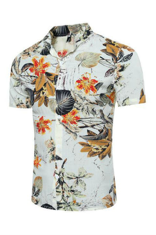Floral Short-Sleeved Shirt