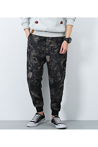 Ethnic Floral Printed Casual Harem Pants