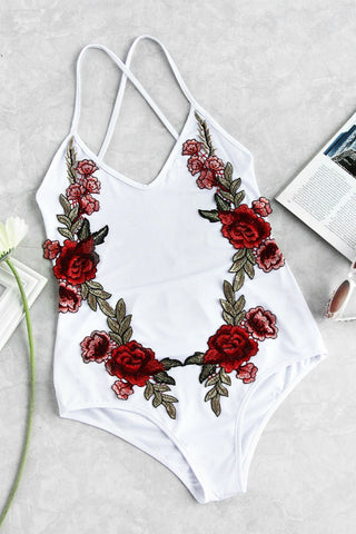 Flower Patch One Piece Swimwear