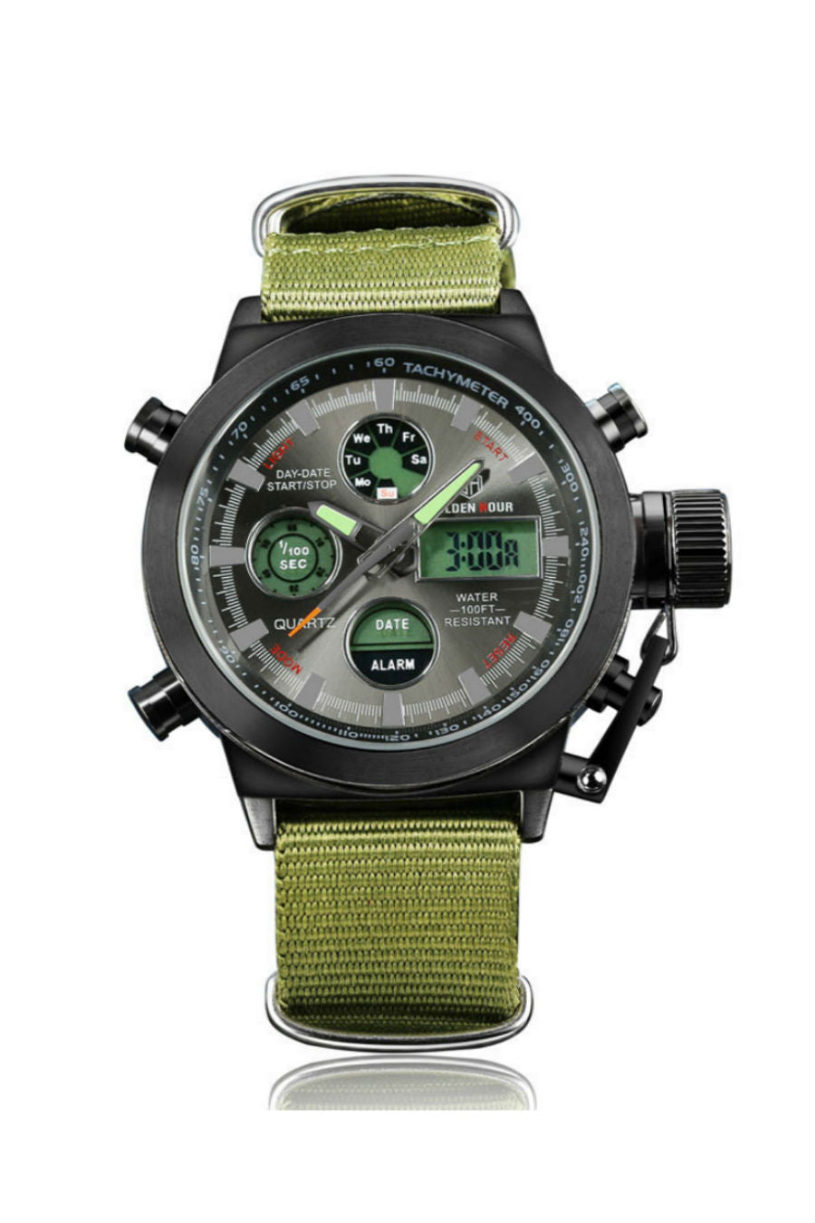 Army Green Nylon Miliatary Watch