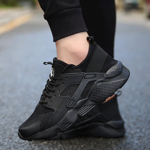 Black Sport Breathable Sneakers