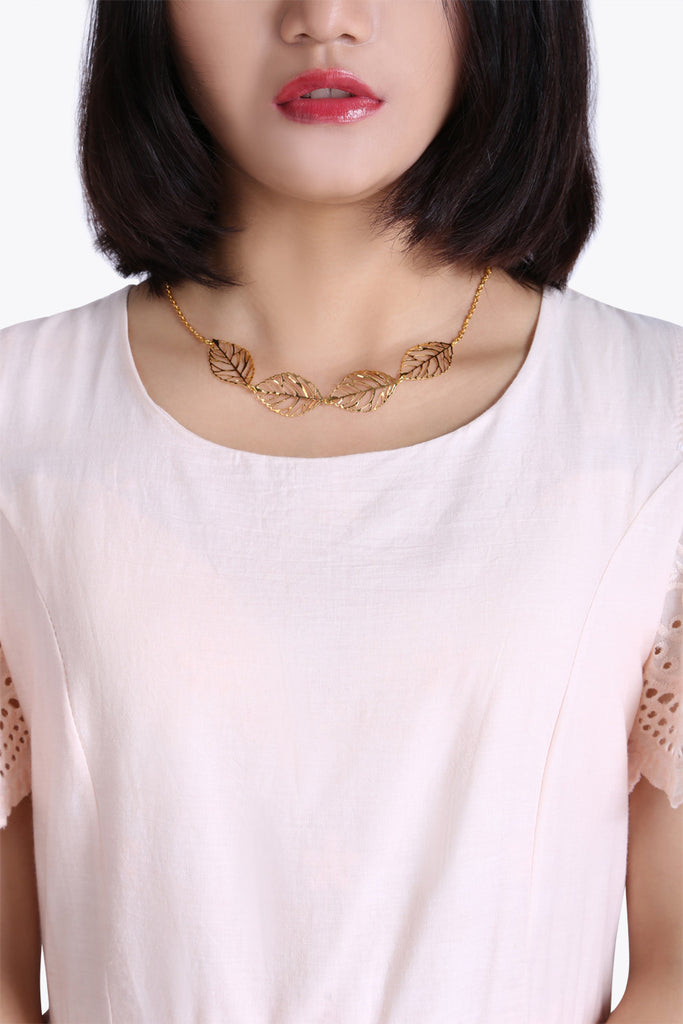 Be Adorned With Leaves Necklace
