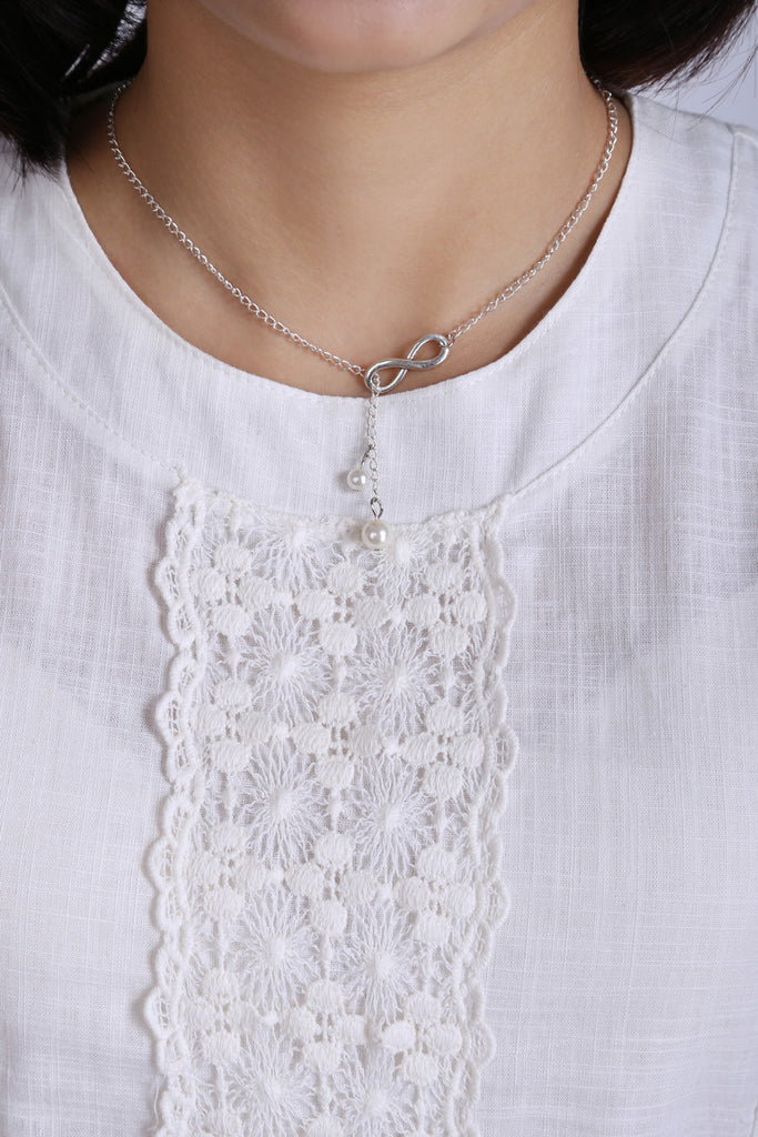 Pearl Infinity Necklace