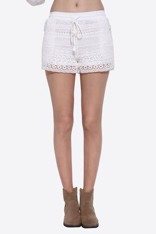 Boho Lace Embroidered Shorts