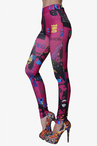 Hippy Leggings in Fuchsia