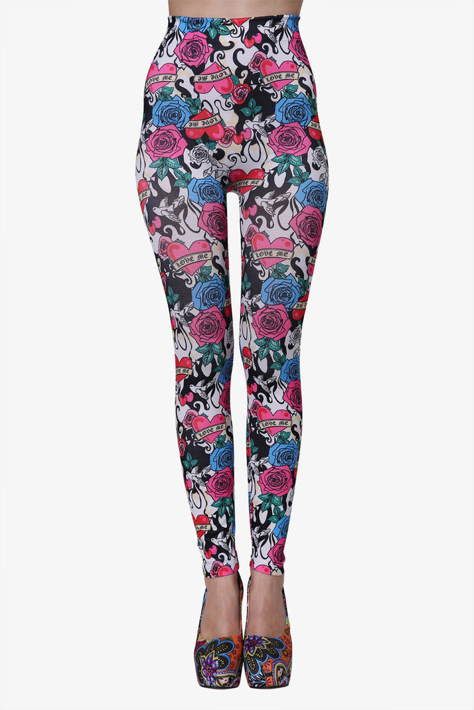 Heart Flower Leggings