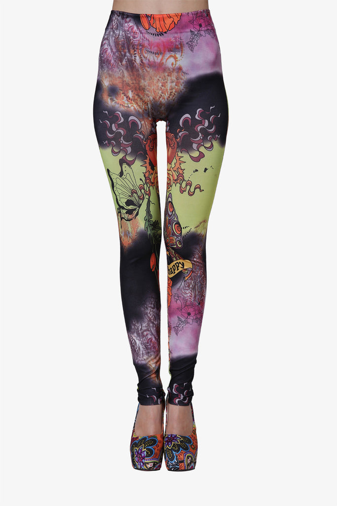 Butterflies Leggings In Rainbow