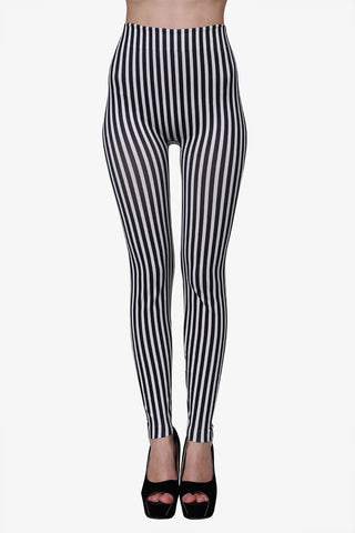 Vintage Striped Leggings