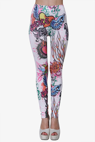 Novelty Peace Leggings