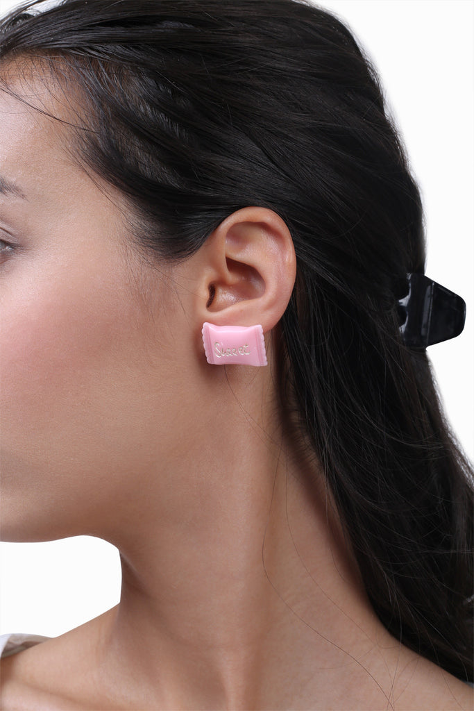 Sweet Pink Candy Earrings
