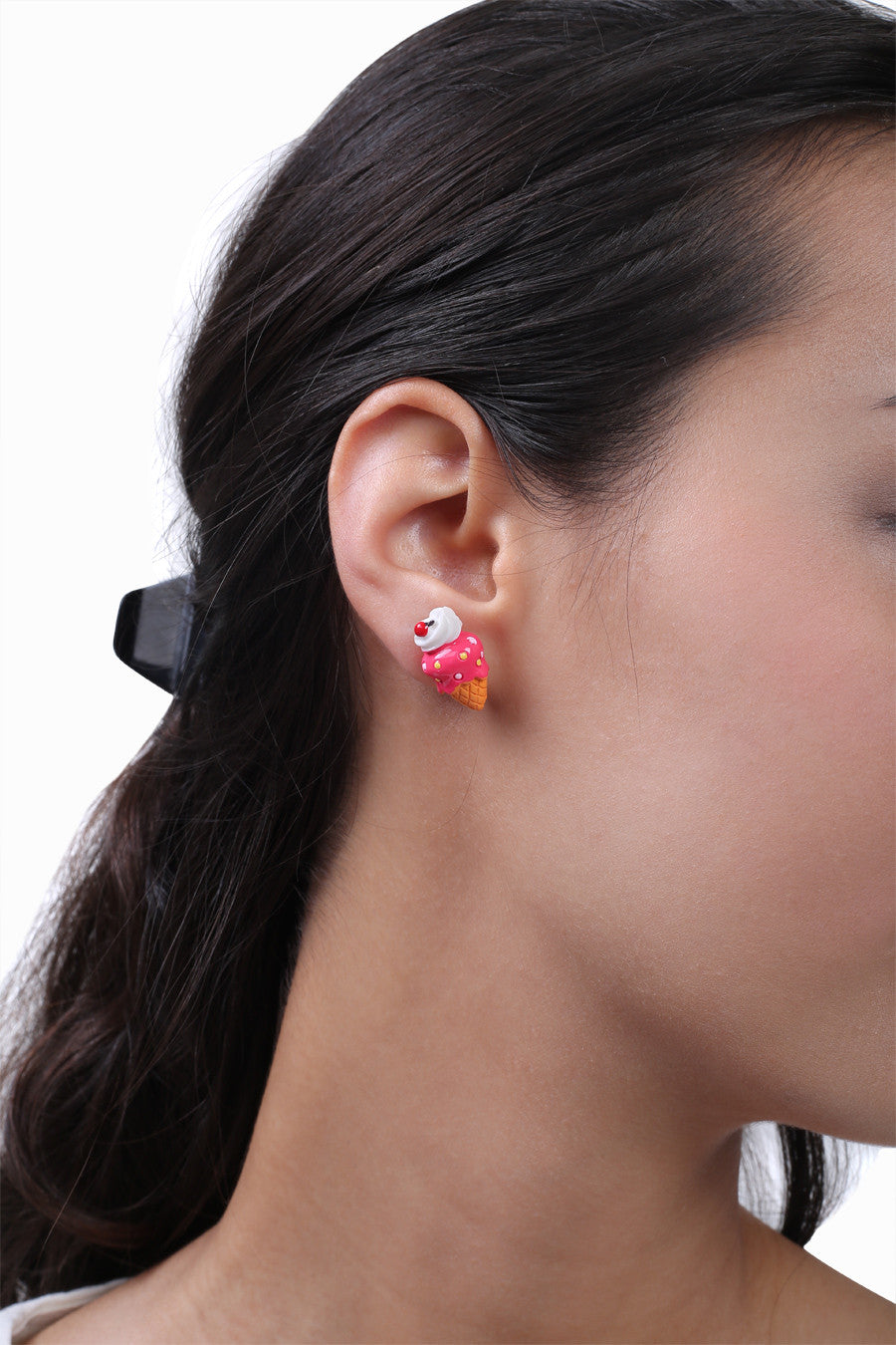 Strawberry Ice Cream Ear Stud