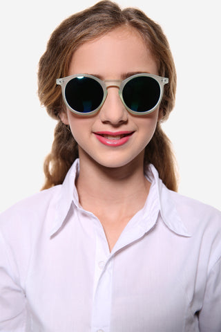 Oversized Round Gray Sunglasses