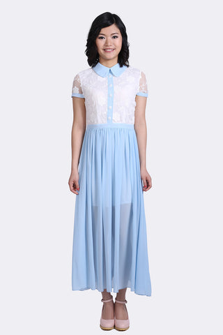 Retro Style Special Occasion Maxi Dress