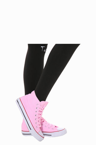 Classic High-Top Sneakers In Pink