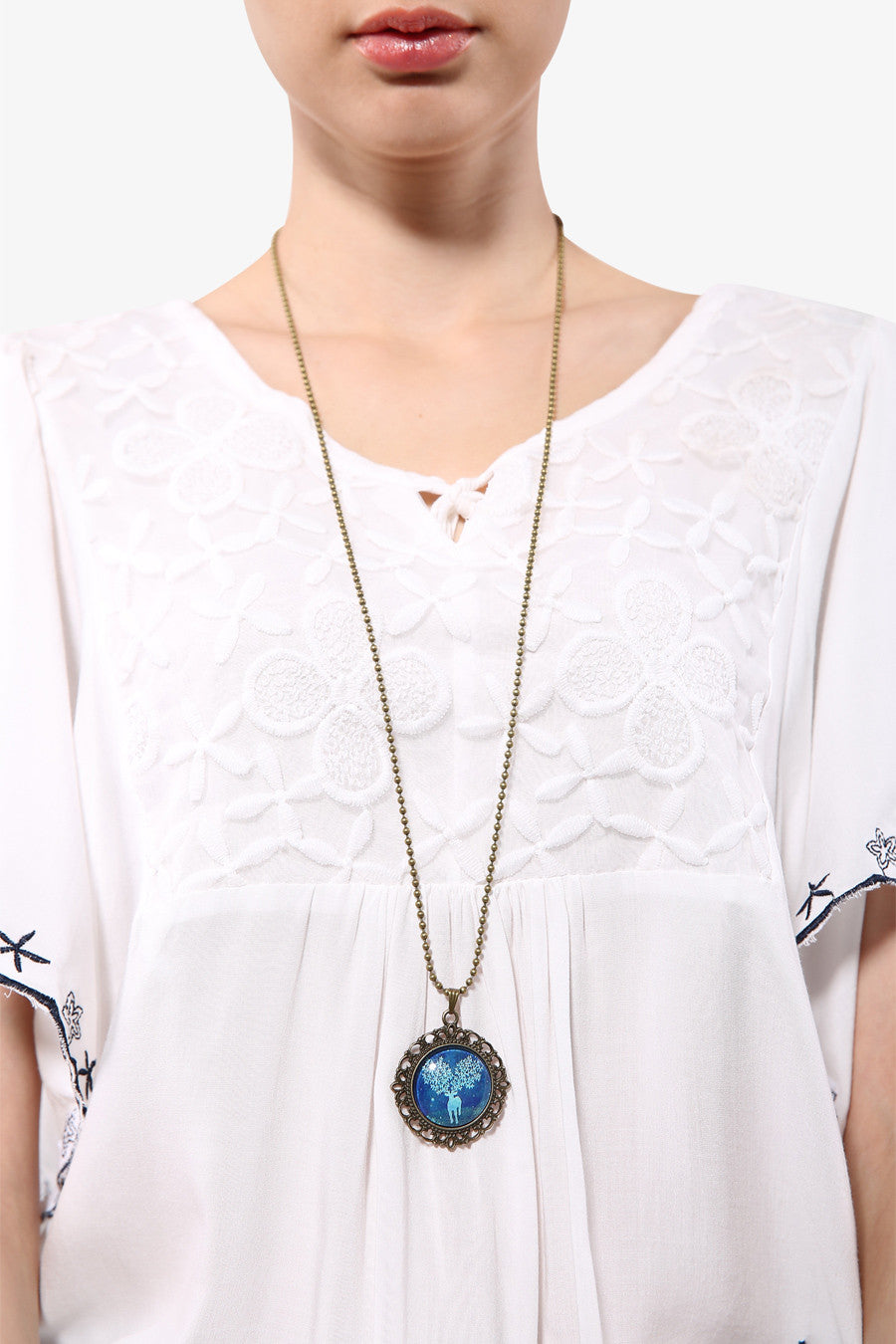 Retro Rosette Elk Necklace