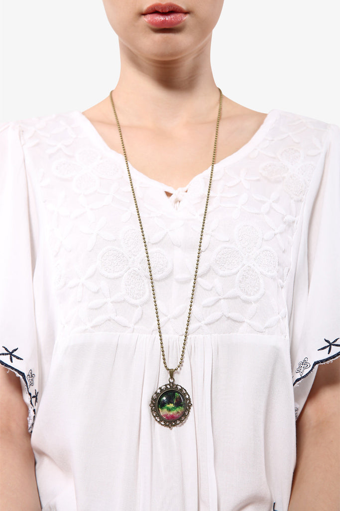 Fashion Retro Rosette Nebula Necklace