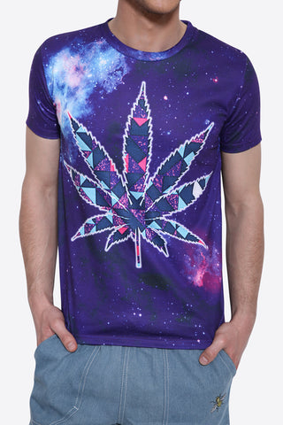Maple Leaf Of Galaxy Acid T-shirt