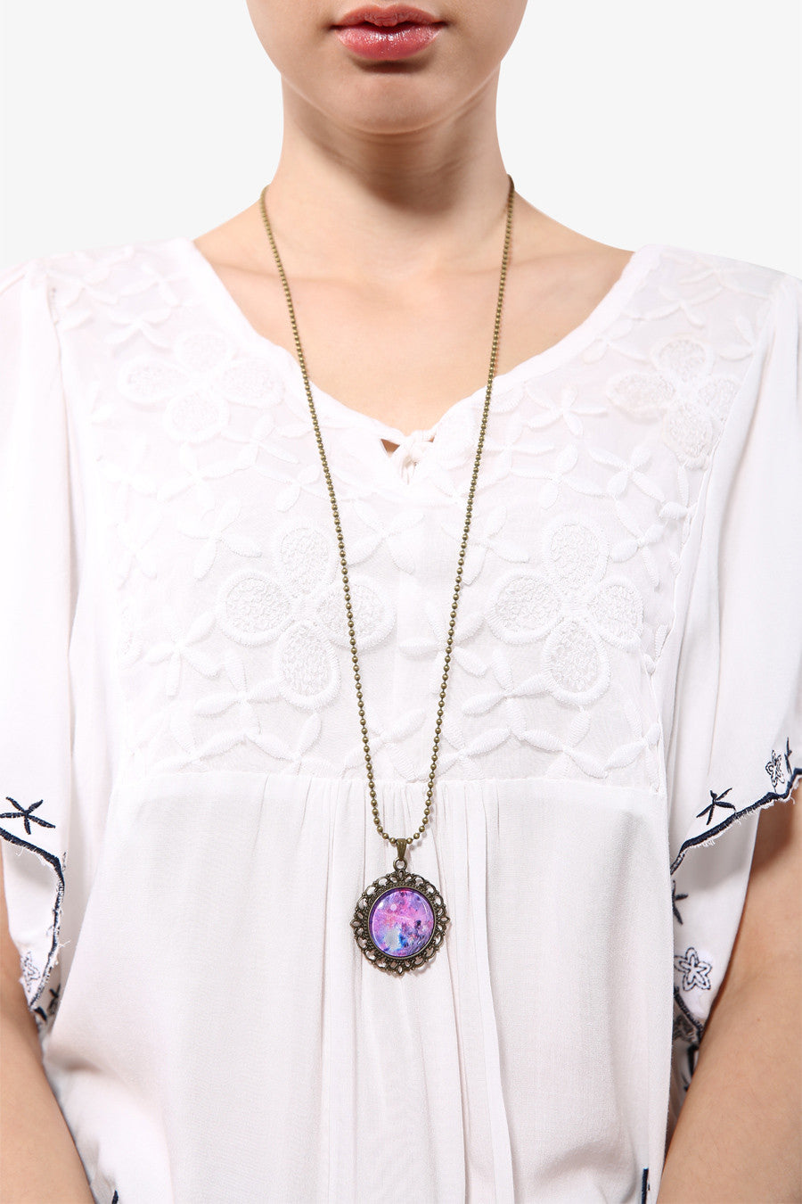 Retro Rosette Nebula Necklace