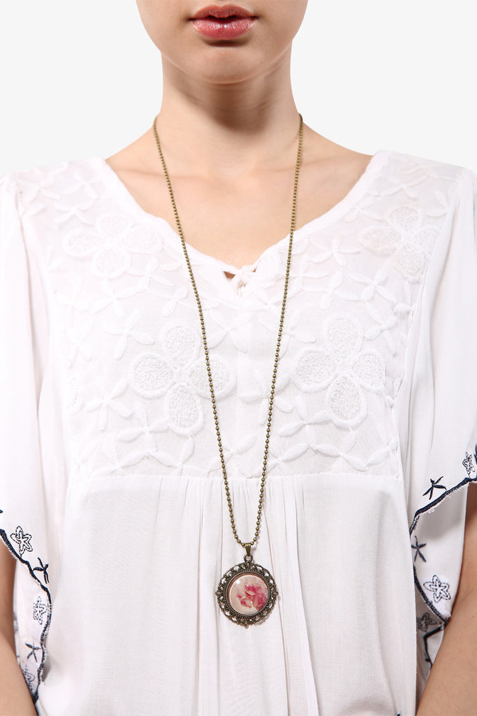 Retro Rosette Floral Necklace