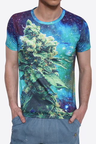 3D Galaxy Printed T-Shirt
