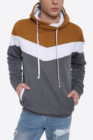 Long Sleeve Color Block Hoodie
