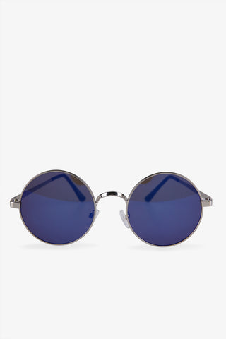 Blue Lens Round Sunglasses