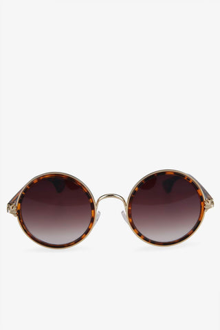 Fashion Tortoise Round Sunglasses