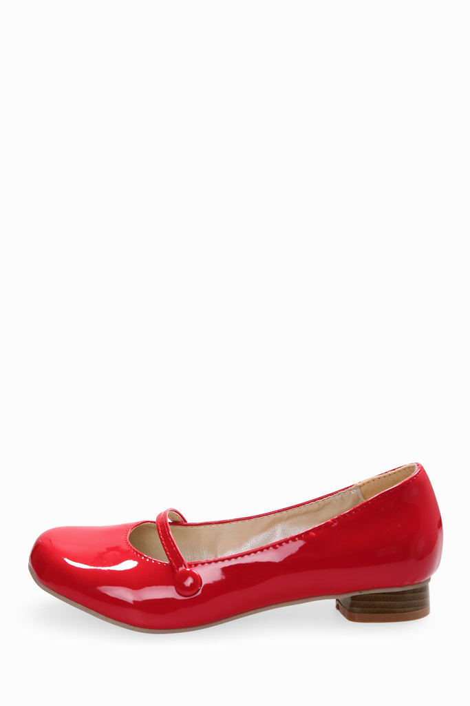 Retro Red Ballet Shoes