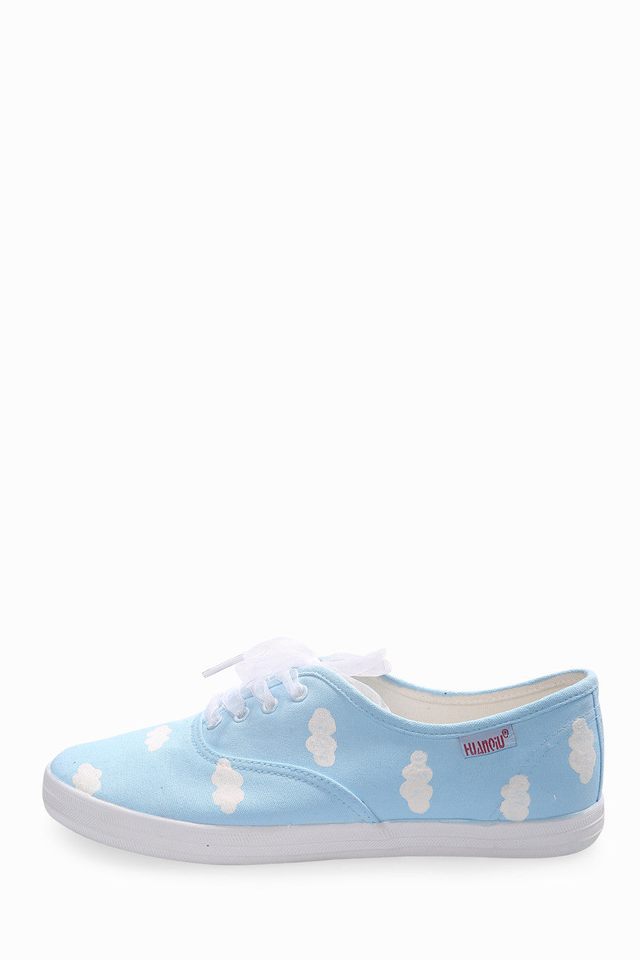 Cute Blue Clouds Printed Sneakers