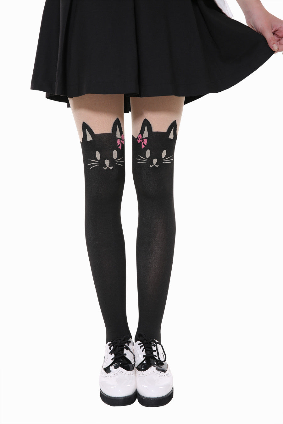 Cat Wear Pink Bow Tights