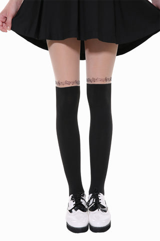 Retro Inspired Music Tights