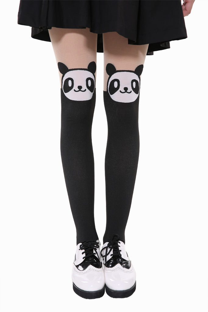 Happy Cute Panda Tights