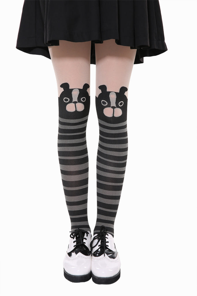 Cute Stripe Dog Tights