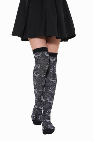 Warm Deer High Knee Socks