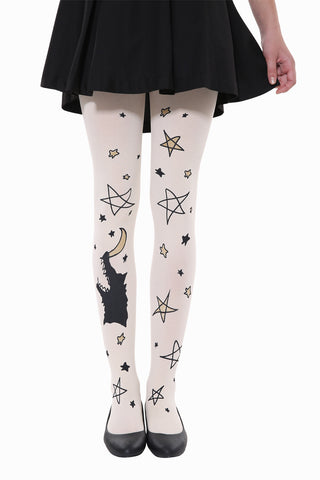 Wolf Is Singing To Stars And Moon Tights