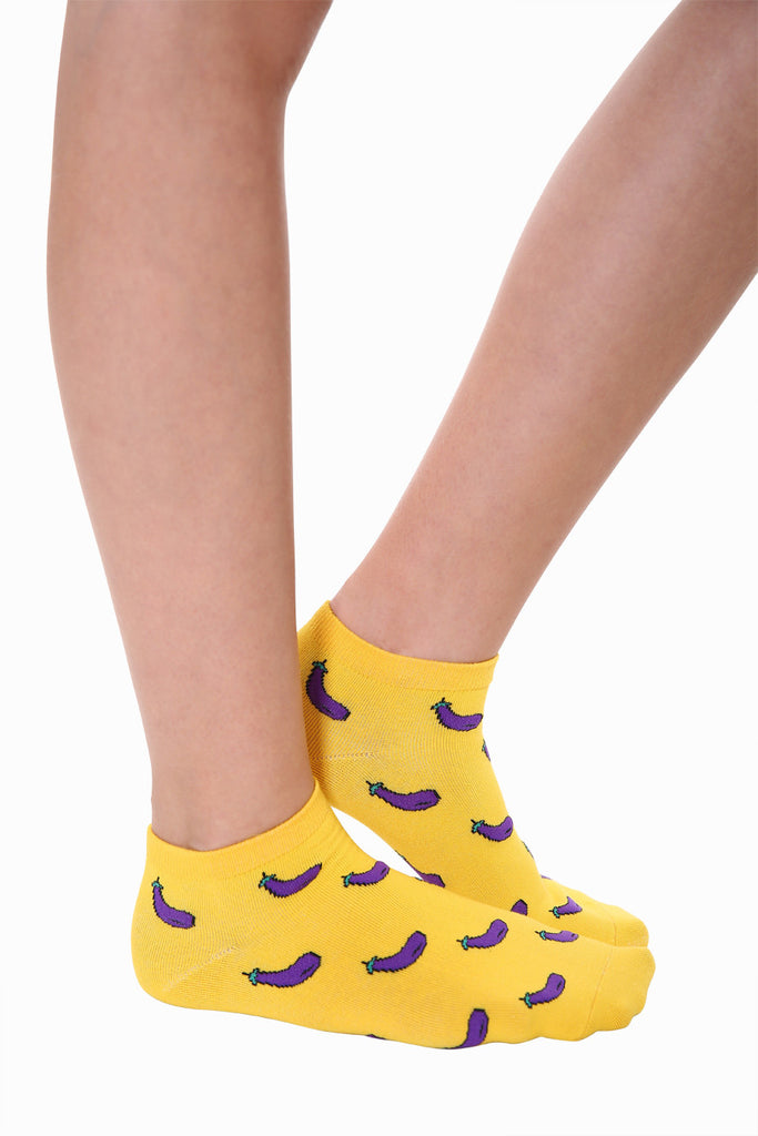 Lovely Eggplants Socks