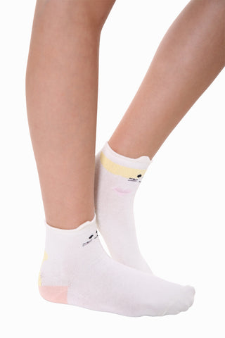 Creative Cat Socks In White