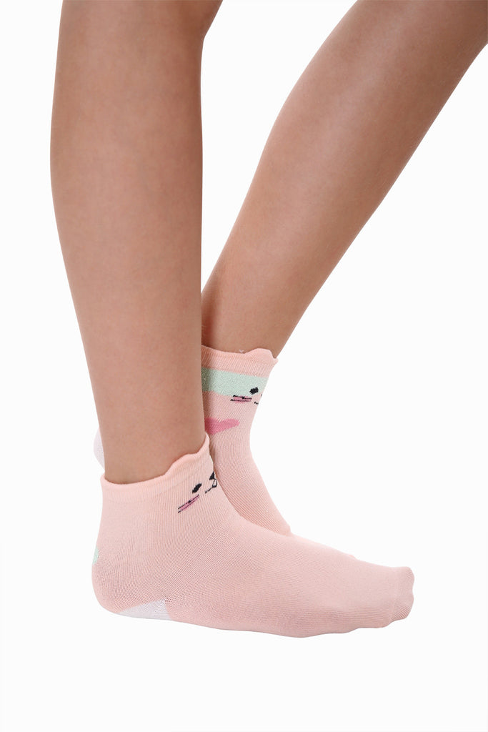 Creative Cat Socks In Pink