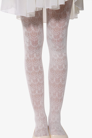 Peacock Tights In White