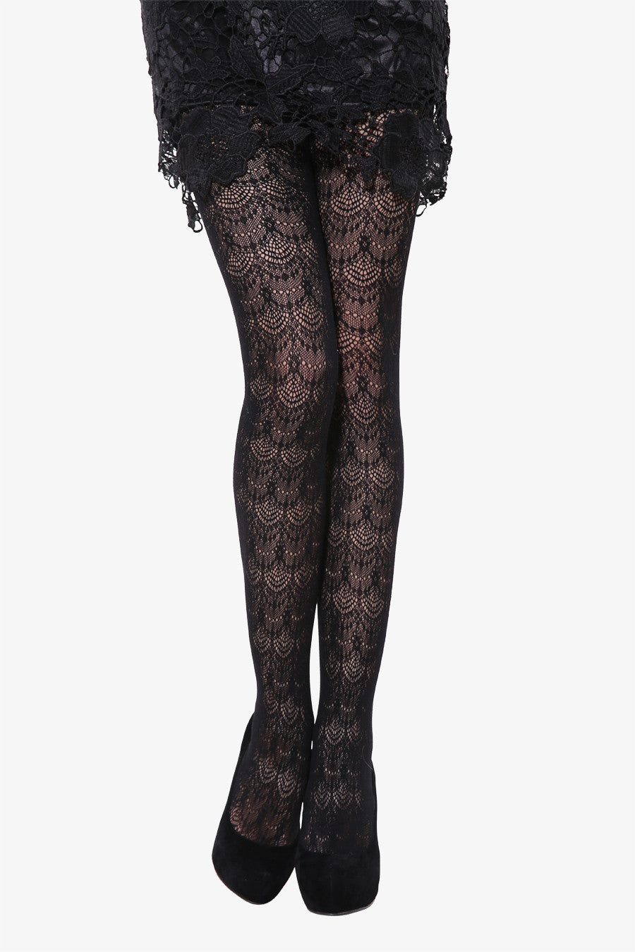 Peacock Tails Tights In Black