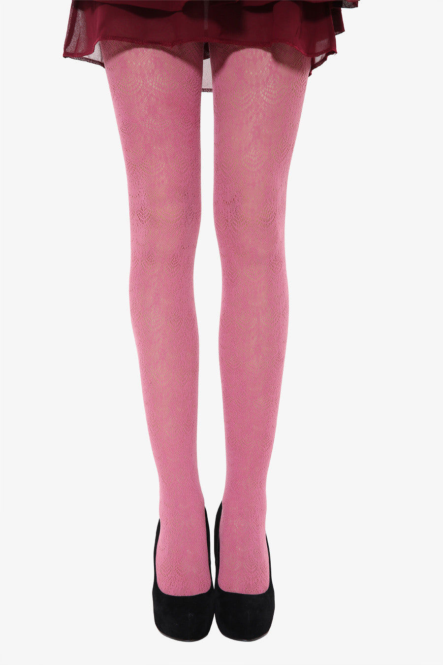 Peacock Tails Tights In Pink