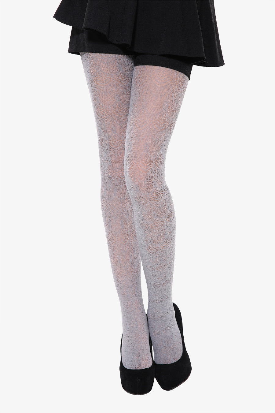 Peacock Tails Tights In Gray