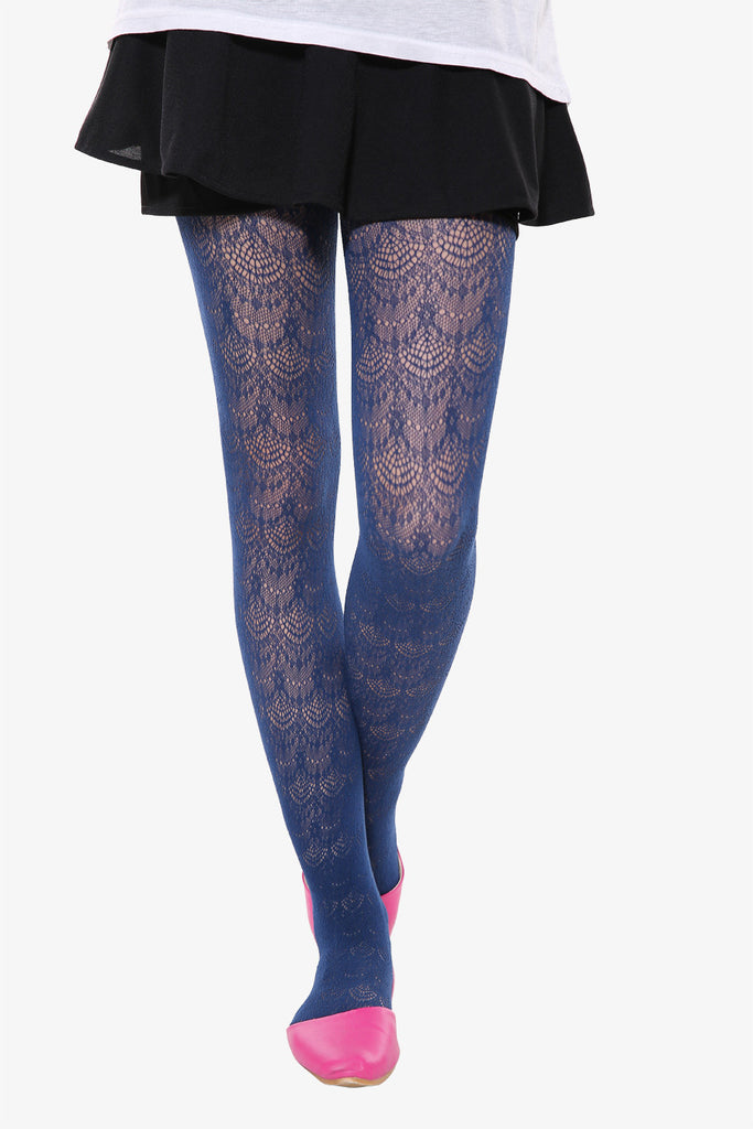 Peacock Tights In Navy
