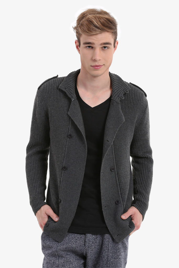 Slim Men's Gray Overcoat