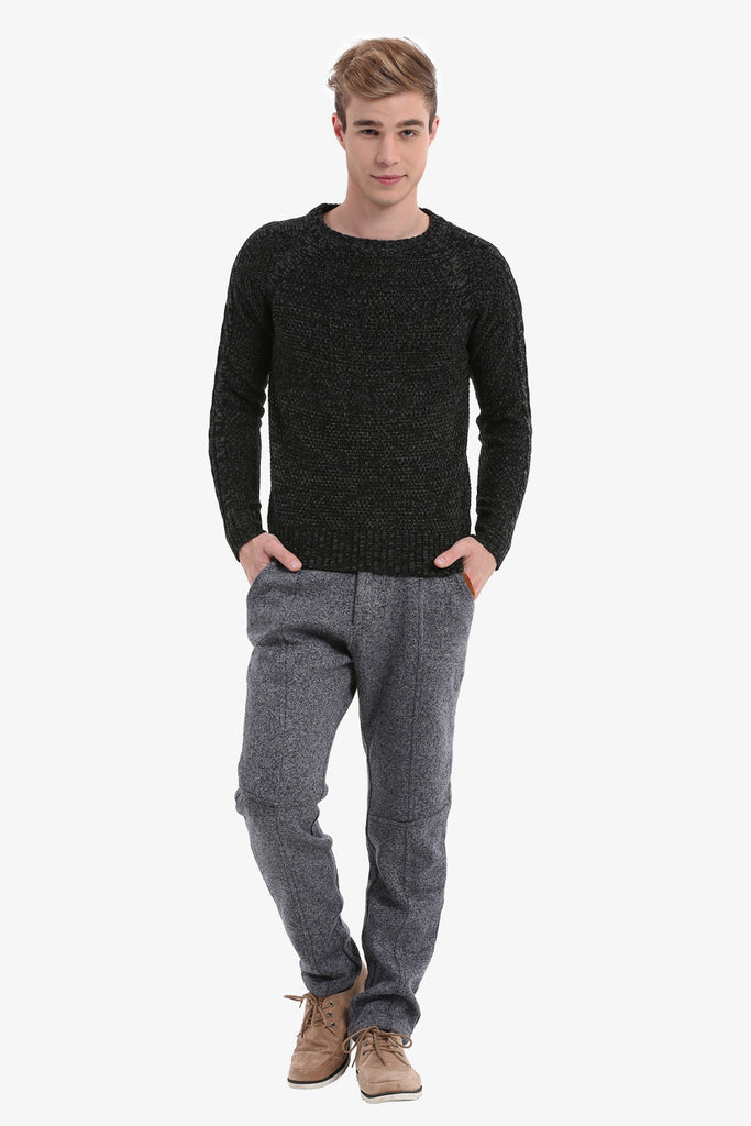 Multi-coloured Men's Sweater In Black